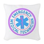 EMT Logo Pastel Woven Throw Pillow