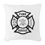 Fire Rescue Woven Throw Pillow
