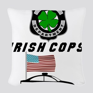 Irish Cops Woven Throw Pillow