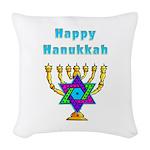 Happy Hanukkah Woven Throw Pillow
