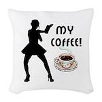 My Coffee Woven Throw Pillow