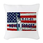 911 Never Forget Woven Throw Pillow