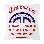 american peace Woven Throw Pillow