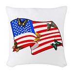 american butterflys Woven Throw Pillow