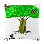 plant one2 Woven Throw Pillow