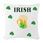 IRISH beer Woven Throw Pillow