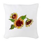 Sunflower Garden Woven Throw Pillow
