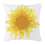 Sunflower Elegant Woven Throw Pillow