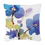 watercolor Woven Throw Pillow