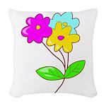 cute bouquet Woven Throw Pillow