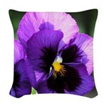 pansy mousepad Woven Throw Pillow