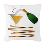 Champagne Party Celebration Woven Throw Pillow
