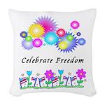 Celebrate Freedom Woven Throw Pillow