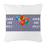 balloonstripeothill Woven Throw Pillow