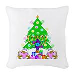 Hanukkah and Christmas Woven Throw Pillow