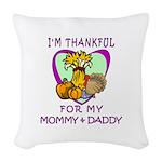Thanksgiving Kids Woven Throw Pillow