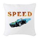 Speed Car Woven Throw Pillow