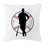 baseball pro ball Woven Throw Pillow