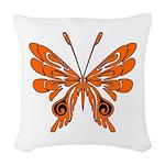 'Butterfly Tattoos Woven Throw Pillow