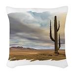 desert early mask Woven Throw Pillow