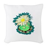Desert Cactus Woven Throw Pillow