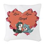 Medical Symbol Caduceus Woven Throw Pillow