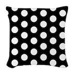 Polka Dots Woven Throw Pillow