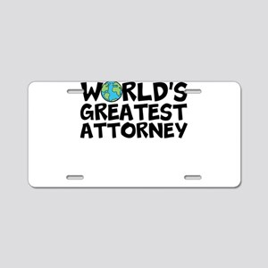 World's Greatest Attorney Aluminum License Pla