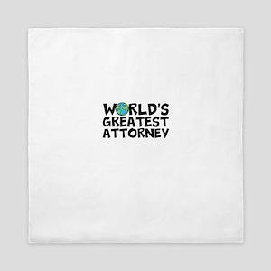 World's Greatest Attorney Queen Duvet