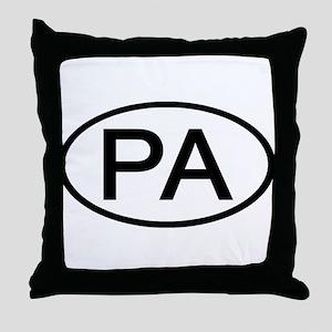 PA Oval - Pennsylvania Throw Pillow