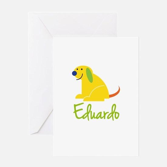Eduardo Loves Puppies Greeting Card