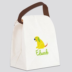 Eduardo Loves Puppies Canvas Lunch Bag