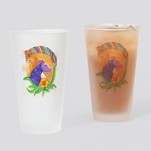 Curly Luv Drinking Glass