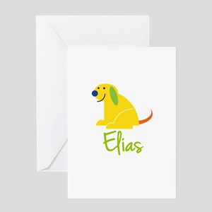 Elias Loves Puppies Greeting Card
