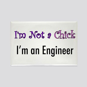 Not a Chick, Engineer Rectangle Magnet