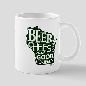 Beer, Chees & Good Company in Green Mug