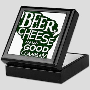 Beer, Chees & Good Company in Green Keepsake Box