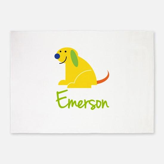 Emerson Loves Puppies 5'x7'Area Rug