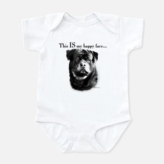 Rottweiler Happy Face Infant Bodysuit