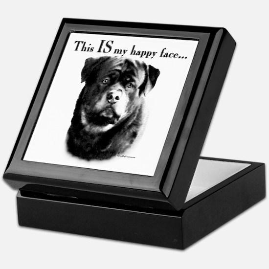 Rottweiler Happy Face Keepsake Box