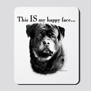 Rottweiler Happy Face Mousepad
