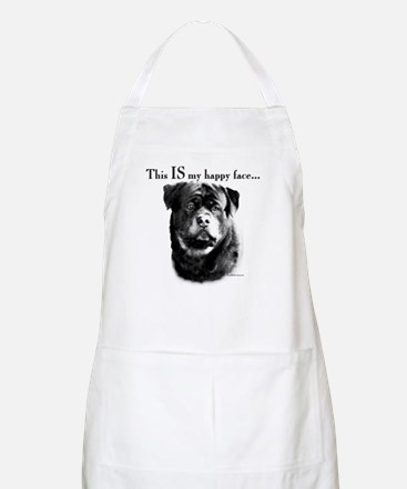 Rottweiler Happy Face BBQ Apron