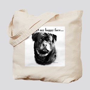 Rottweiler Happy Face Tote Bag