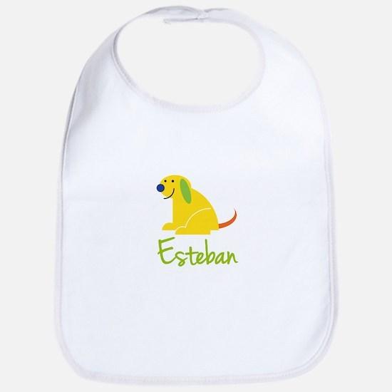Esteban Loves Puppies Bib