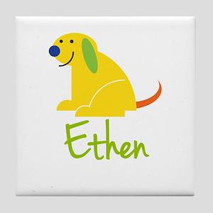 Ethen Loves Puppies Tile Coaster