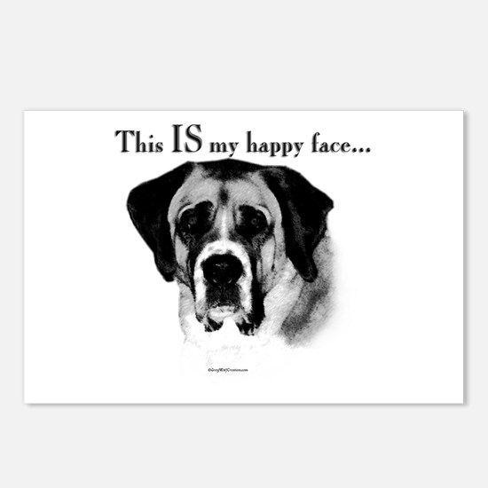Saint Bernard Happy Face Postcards (Package of 8)