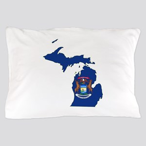 Michigan Flag Pillow Case