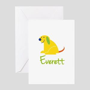 Everett Loves Puppies Greeting Card