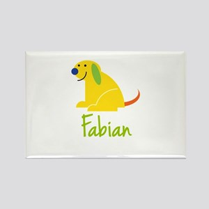 Fabian Loves Puppies Rectangle Magnet