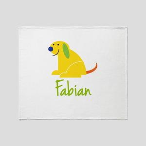 Fabian Loves Puppies Throw Blanket